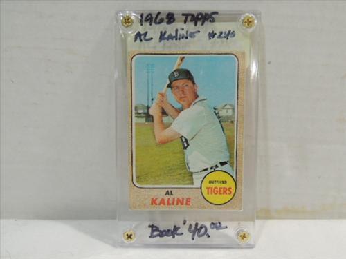 1968 Topps 240 Baseball Player Card Al Kaline