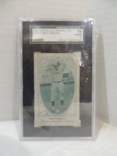 1922 Carmel E120 Baseball Card Graded Jesse Barnes