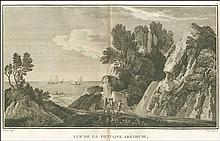 "[?T??? - ??e???sa ?????] ""Vue de la Fontaine Arethuse / Dogez Sculp / Adam Direcsit"", from Jean-Baptiste Lechevaliers ""Voyage de la Troade…"" 1802. Scarce view of the the fountain of Arethusa, Ithaca. Dim.46x29. Full margins, light marginal spots."