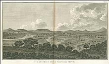 """Vue generale de la plaine de Troye, from from Jean-Baptiste Lechevaliers """"Voyage de la Troade…"""" 1802. Scarce view of Troy plain. Dim.42x25. Full margins, one light marginal spot."""