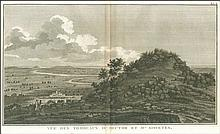 """Vue des Tombeaux D'Hector et D'Aisyetes"""", from from Jean-Baptiste Lechevaliers """"Voyage de la Troade…"""" 1802. Scarce view of the Tombs of Hector and Aesyetes in the vale of Karamenders (anc. Scamander) river. Dim.45x27.5. Full margins, one spot."""