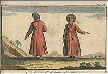 Greek Women of Constantinople / Vol.I.Pag.355 coloured copper engraving c. 16x10cm. from the book