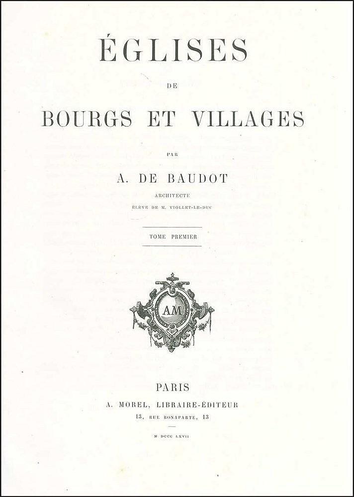 [France - Architecture] BAUDOT A. De,