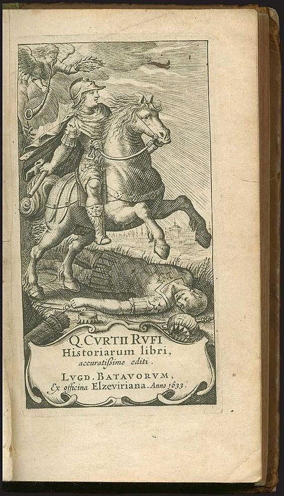 Q. Curtii Rufi Historiarum libri, accuratissime editi, Lugd. Batavorum ex officina Elzeviriana, 1633. 16mo