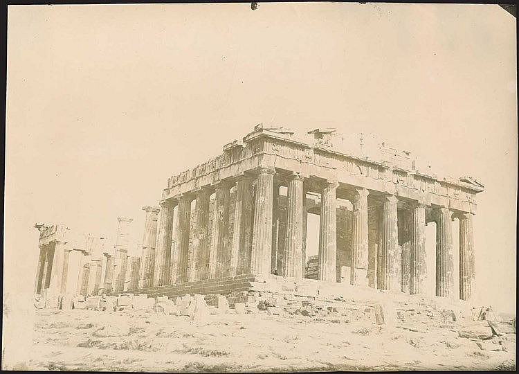 ΑΘΗΝΑ Ακρόπολη - Athens  Acropolis, c.1890. Collection of ten (10) albumen photos dim.23.5x17.5cm each, presenting scarce views of the Acropolis antiquities. Unknown photographer.