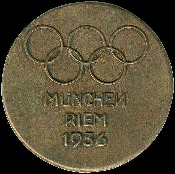 Berlin 1936 Olympic Games. Casting Bronge Medal 1936 for the