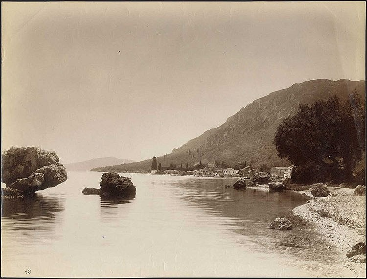 ΚΕΡΚΥΡΑ - CORFU. Scarce albumen photo dim.27.5x21cm. Numbered