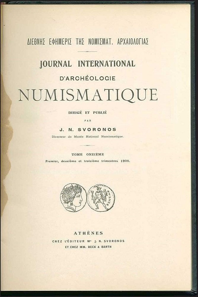 [Numismatics] SVORONOS J. N. (ΣΒΟΡΩΝΟΣ)