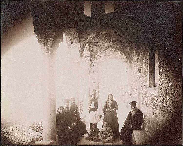 MYSTRAS, Pantanassa Monastery. Three (3) rare early albumen photos c.1880. Photos dim.20.7x16.5cm, 17.5x12.5cm, 17.5x13cm.