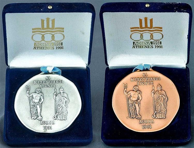 Athens XI Mediterranean Games 1991. Silver