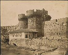 Rhodes (Ρόδος) c.1870. Scarce albumen photograph issued by Rubellin with photographer cachet