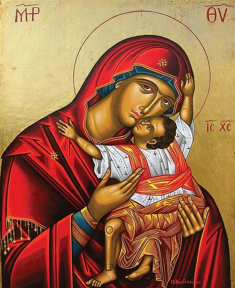 Icon of Theotokos Glykophilousa : the