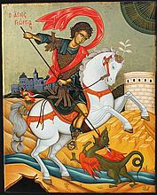 Icon of Saint George (50 X 40 cm). Artist: Nayia Kaplanidou.