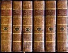 "Gibbon E., ""The History of the decline and fall of the Roman Empire"", Basel, Tourneisen, 1789. Second complete edition and the first edition (one print run) containing the classical work on the..."