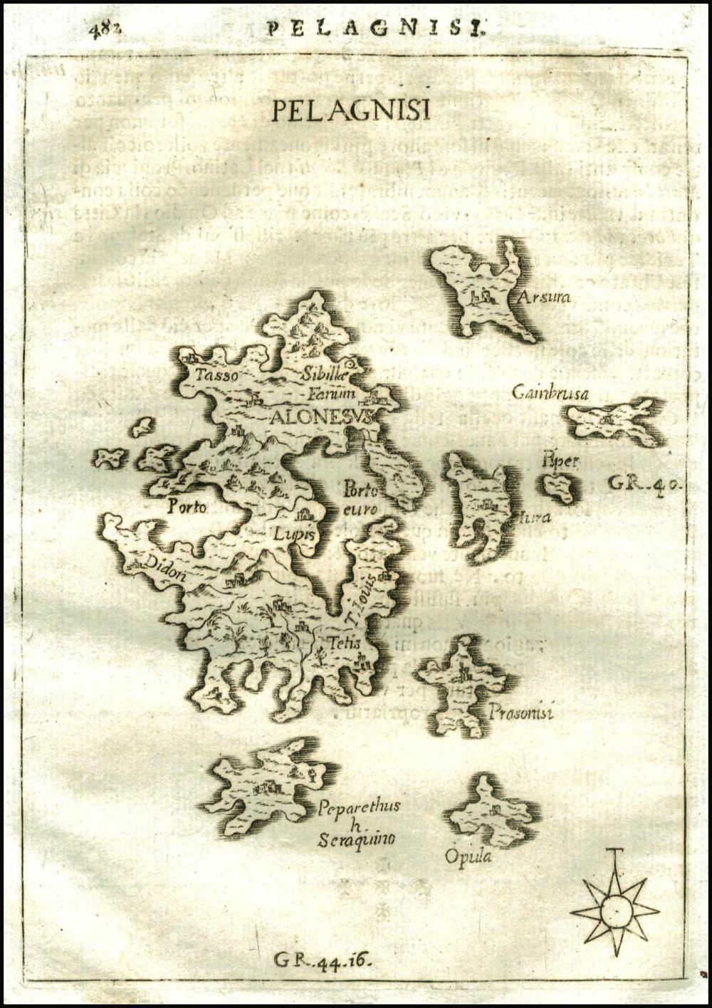 "PIACENZA F., ""Pelagnisi"", 1688. Rare map from Piacenzas isolario ""L'Egeo rediviso..."", 1688 (one and only edition),... - Greece - Aegean / SPORADES"