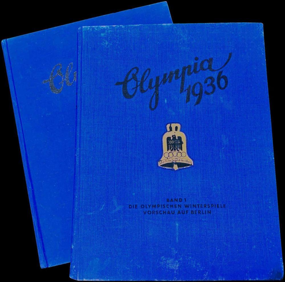OLYMPIA 1936,Cigaretten-Bilderdienst Altona-Bahrenfeld,2 vols - Band I: Die Olympischen Winterspiele.Vorschau auf Berlin... - Greece - OLYMPIC MEMORABILIA