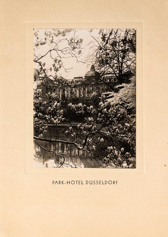 PARK HOTEL – Dusseldorf, 4σέλιδος κατάλογος (Menu) του γνωστού γερμανικού... - Greece - EPHEMERA