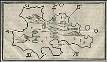 BORDONE Benedetto, Venezia 1534, Greece, map of KYTHNOS island
