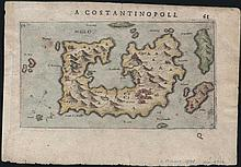 ROSACCIO Giuseppe 1598. Rare map of MILOS island, Greece