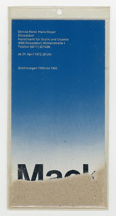 Zeichnungen 1958 bis 1965 (Einladungskarte)