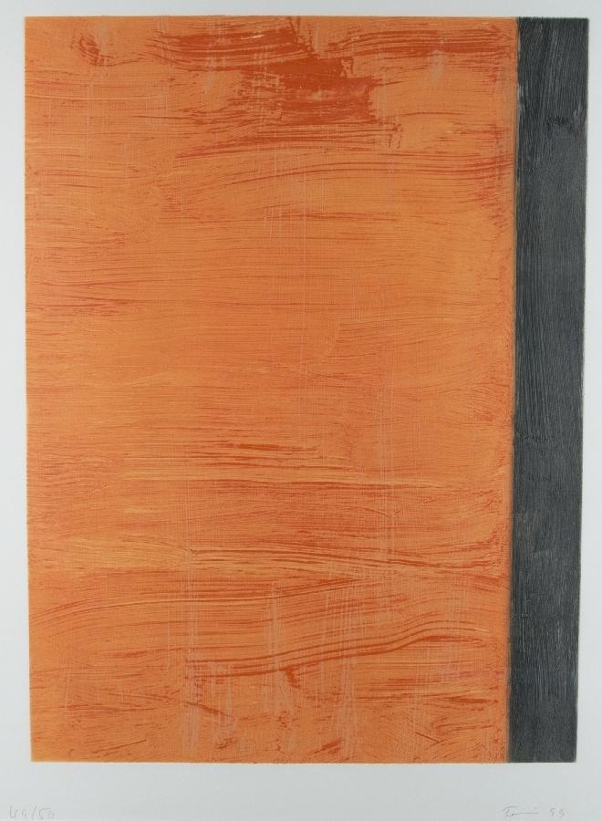 Ohne Titel (Komposition in Orange-Schwarz)
