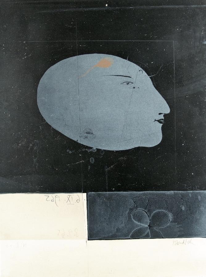 Komposition mit Profilbildnis