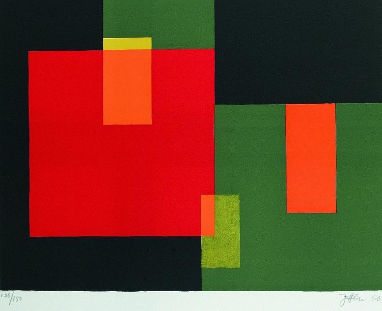 Komposition mit Quadraten und Rechtecken