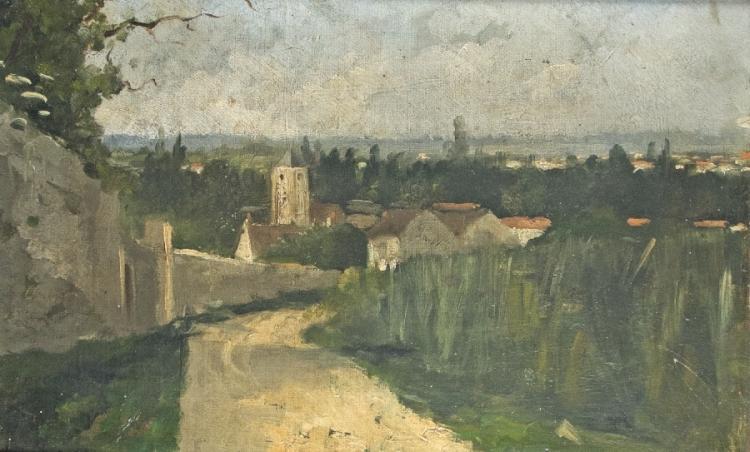 Blick über eine französische Kleinstadt