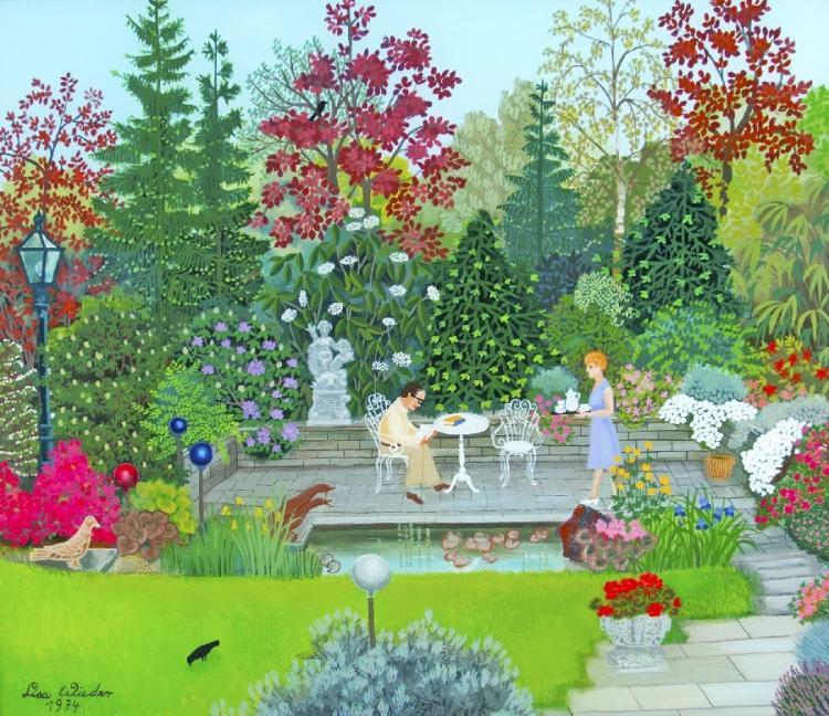 Tee im Garten
