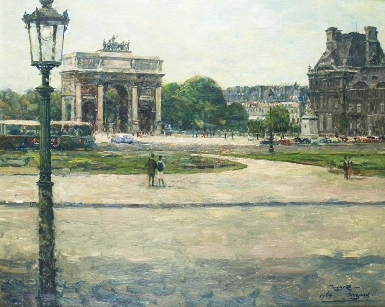 Der Arc de Triomph du Carrousel am Louvre