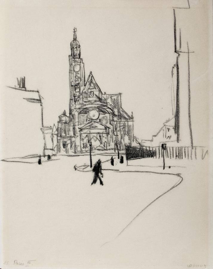 Straßenszene in Paris 1911