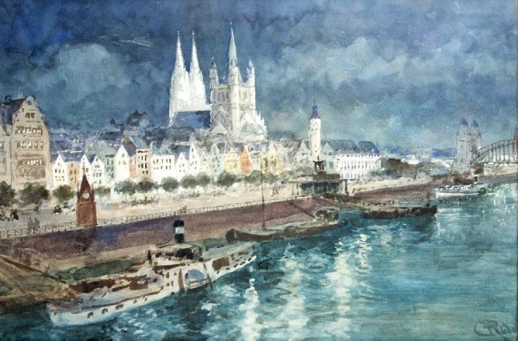 Blick auf das abendliche Köln