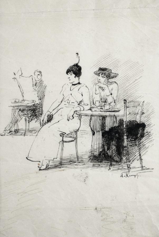 Damen im Kaffeehaus