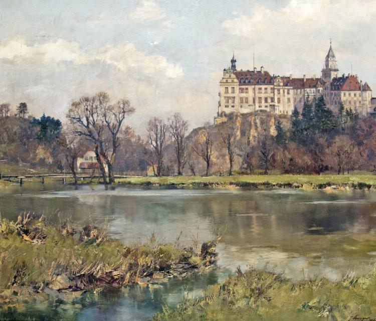 Blick auf Schloss Sigmaringen