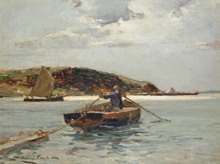 Fischerboot vor dem Strand