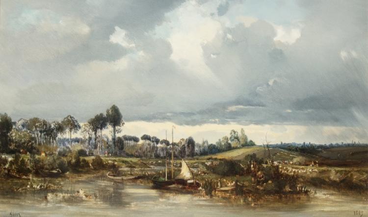 Ufer der Marne bei Annet