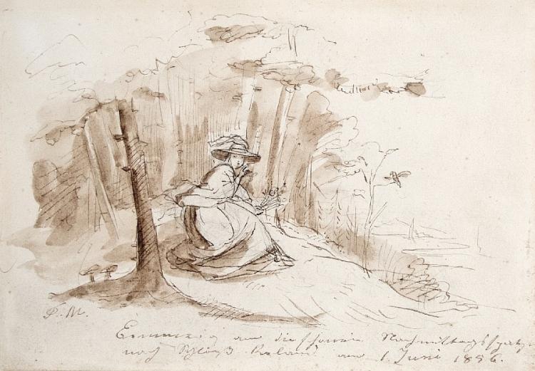 Junge Frau im Wald