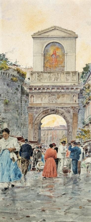 Belebter Markt in Neapel