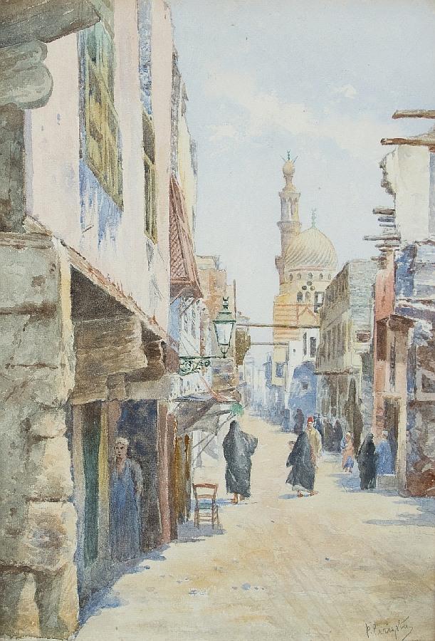 Orientalische Straßenszene