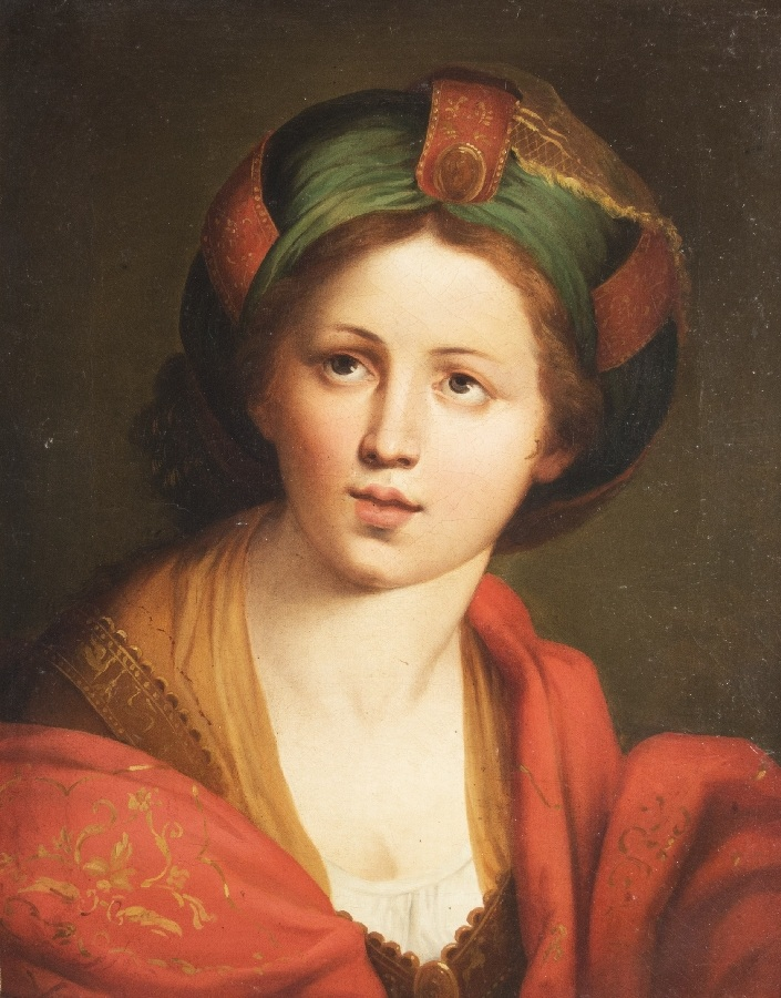Junge Frau mit Turban