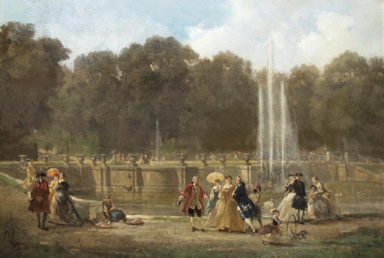 Rokokogesellschaft im Schlosspark