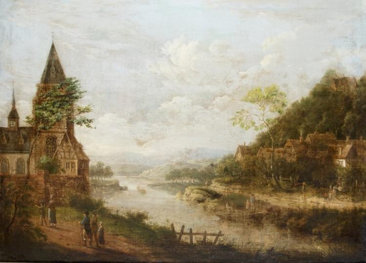 Romantische Flusslandschaft