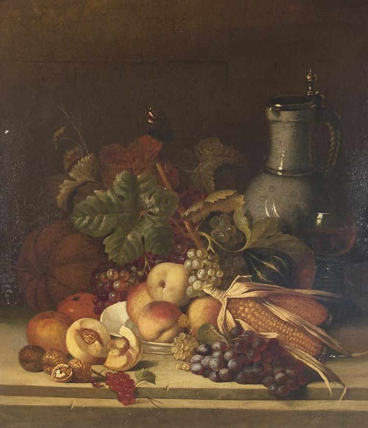 Obststilleben mit Schnellenkrug