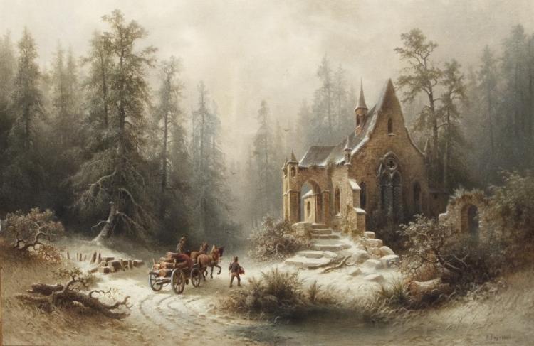Winter an der alten Kapelle