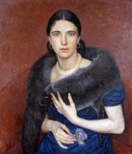 Bernuth, Walter: Junge Dame im Pelz