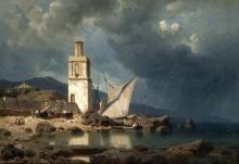 Mevius, Hermann: Mediterrane Küstenszene
