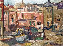 Karl Stachelscheid - Mediterrane Hafenszene