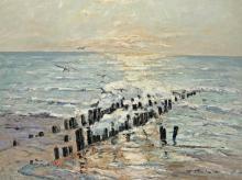 Erich Freiherr von Perfall - Sonnenuntergang an der Nordsee