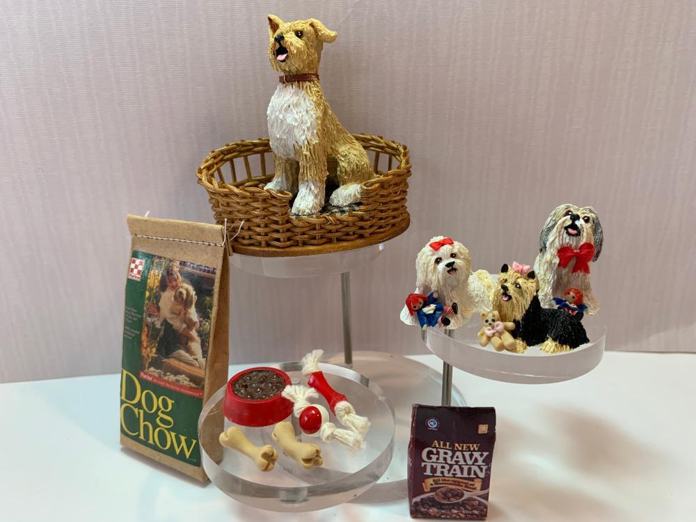 Tremendous Dollhouse Miniatures 12 Piece Dog Lot With Gail Morey Dogs Beutiful Home Inspiration Truamahrainfo