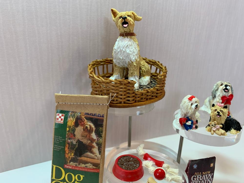 Awesome Dollhouse Miniatures 12 Piece Dog Lot With Gail Morey Dogs Beutiful Home Inspiration Truamahrainfo